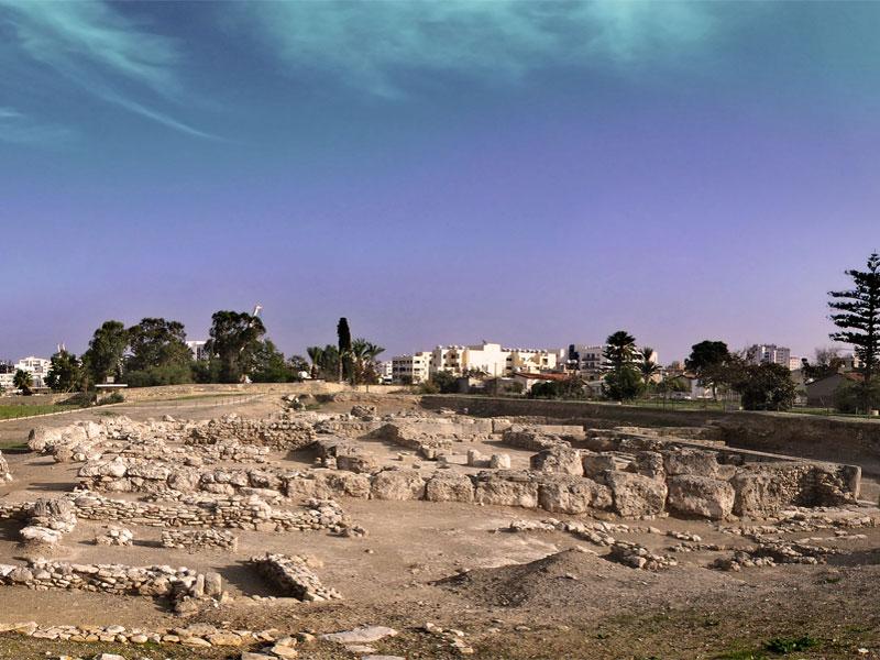 Доступные для осмотра руины Китиона занимают лишь небольшой участок в центре Ларнаки